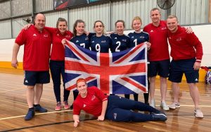 GB Women's team at the Under 19 World Championships.