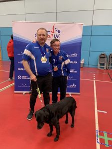 Paul Holloway and Conna Jeffs standing together for a photo post tournament.