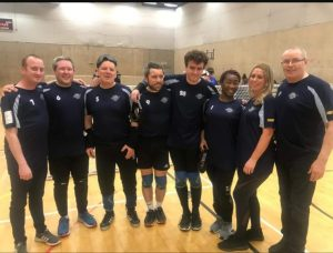 Merseyside Sharks 2020 Intermediate Finals team photo in Birmingham.