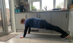 Kali Holder high plank.