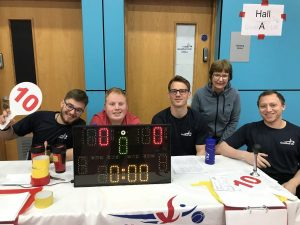 Sue Manton stood in a photo with other table officials at the National League North tournament in Sheffield.