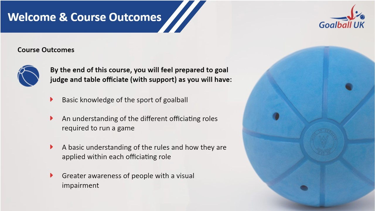 Screenshot of Intro to Officiating course