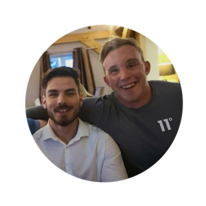 Josh Windle and Josh McEntree smiling