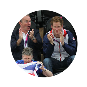 Mike Reilly and Prince Harry