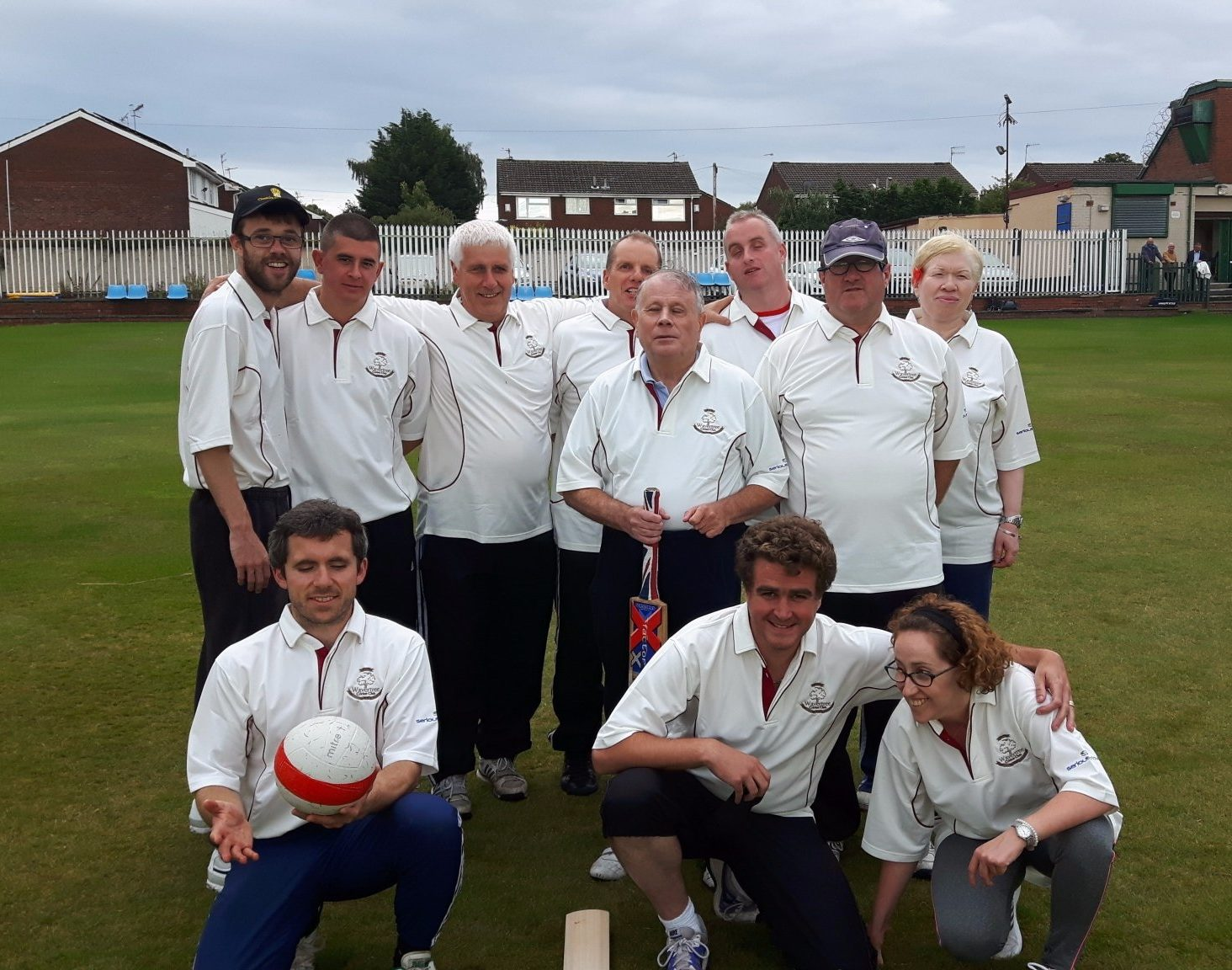 Image shows Matt stood with his Wavertree CC teammates