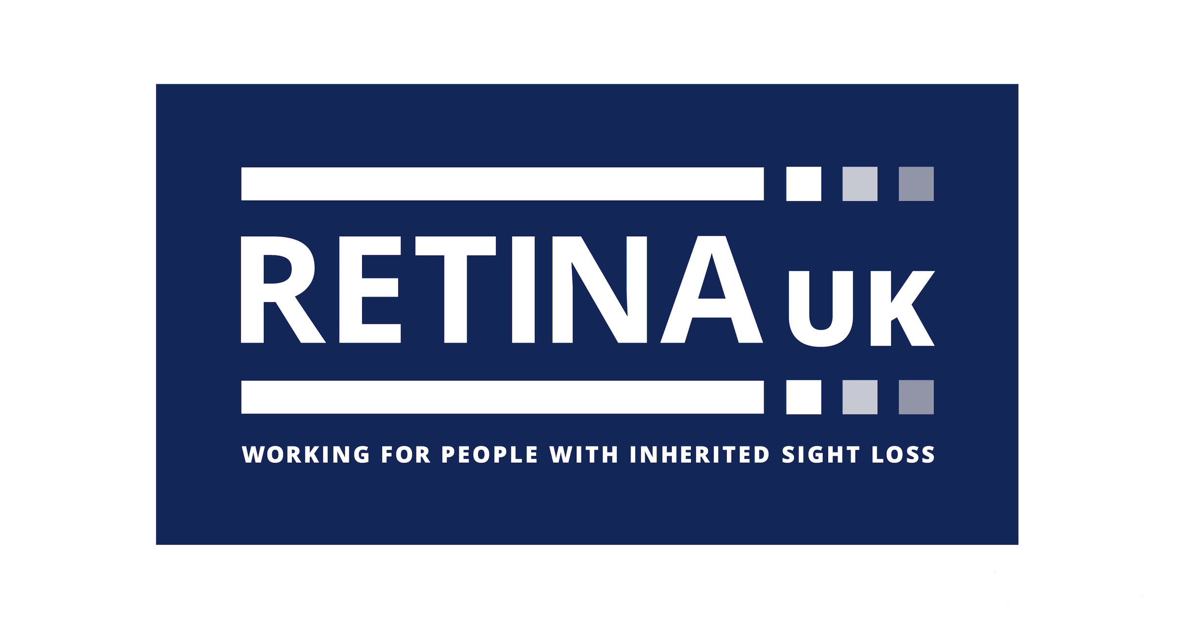Retina UK logo with 'working for people with inherited sight loss' written below