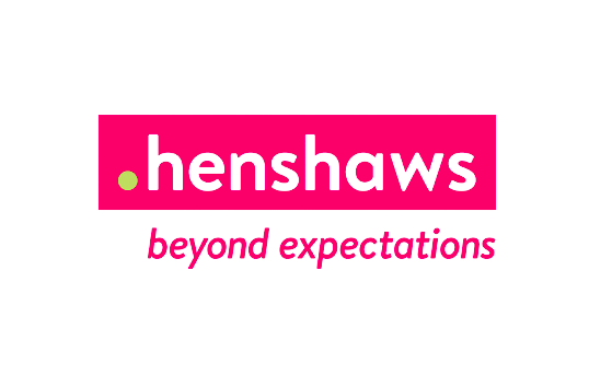 Henshaws logo, with the tagline 'beyond expectations'.