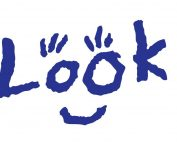 Look logo which is the word 'Look' with eyelashes above the O's and a curved line to represent a smile below.