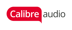 Calibre audio logo which is a speech bubble that says Calibre inside it and then audio next to it.