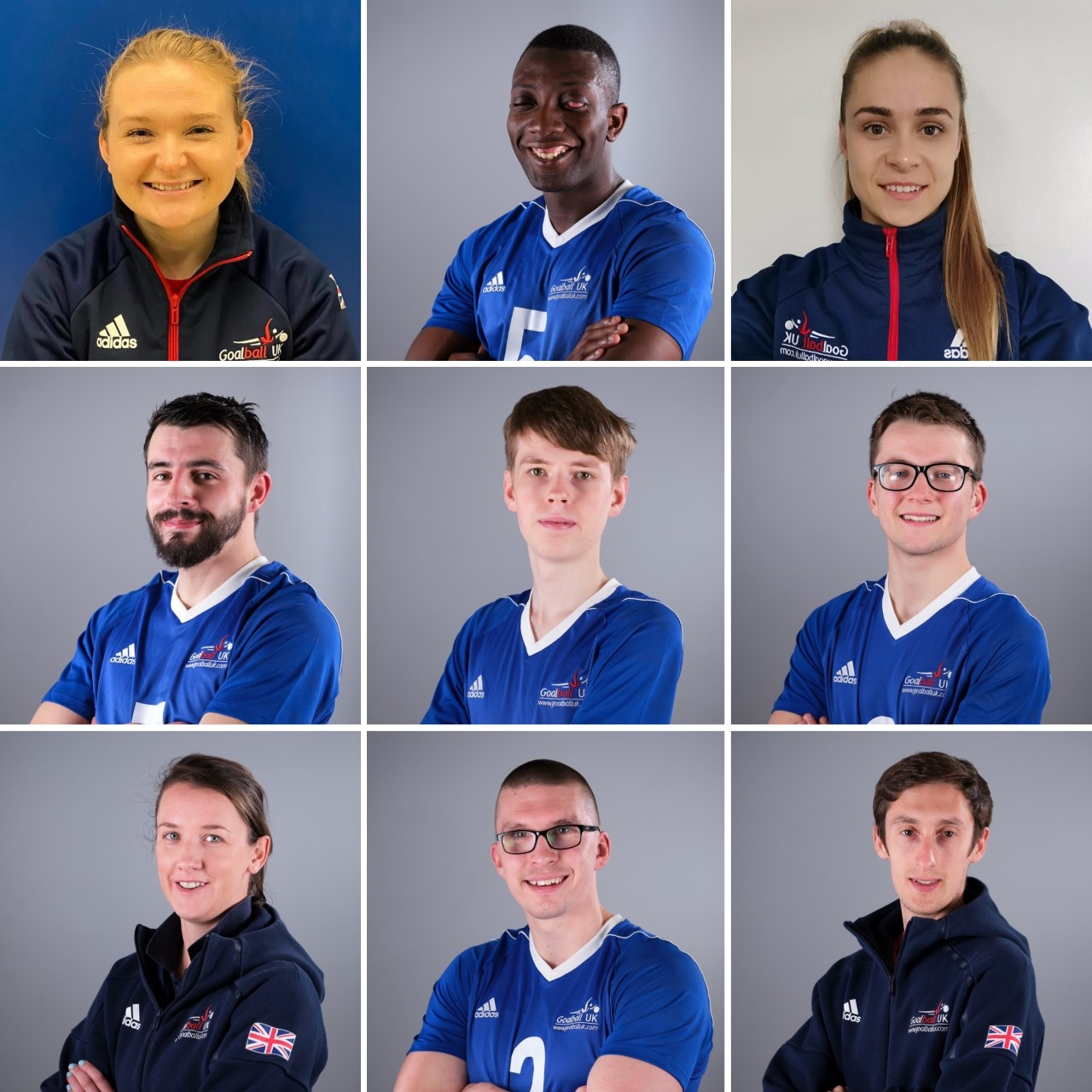GB Men's team virtual group photo, with an individual photo of each team member shown.