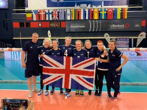 GB Women's team in at the 2019 European A Championships in Rostock, Germany.