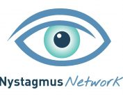 An image of an eye with Nystagmus Network written below