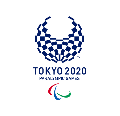 Tokyo 2020 Paralympics logo with the 3 agitos underneath the writing!