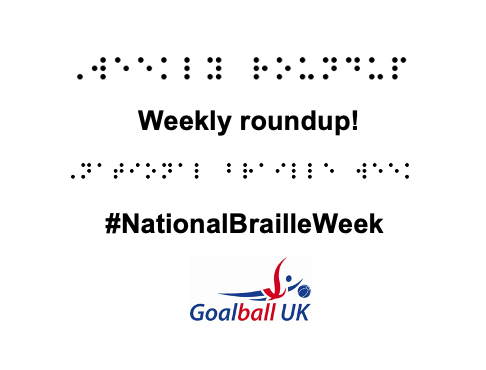 Weekly roundup transcript in braille along with the #NationalBrailleWeek
